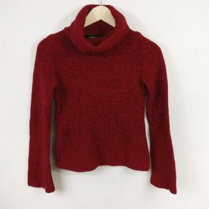 EXPRESS Womens Wool Blend Turtleneck Red Sweater S